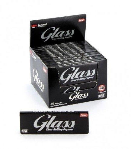 Glass Transparent Blättchen King Size