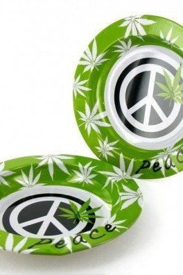 Metallische Ascher Peace