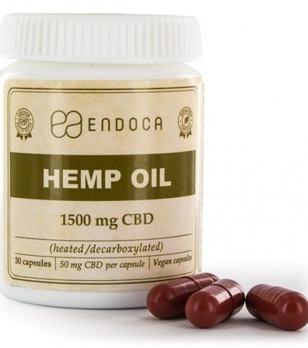 Endoca Hemp Oil Capsules (15% CBD)