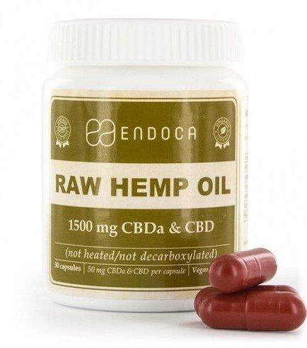 Endoca Raw Hemp Oil Capsules (15% CBD + CBDA)