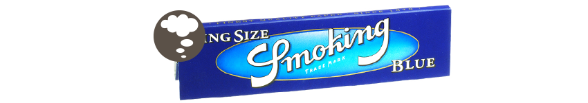 BLÄTTCHEN SMOKING BLUE KING SIZE
