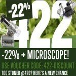 422 Aktion: 22% Rabatt + kostenloses 60x LED Mikroskop!